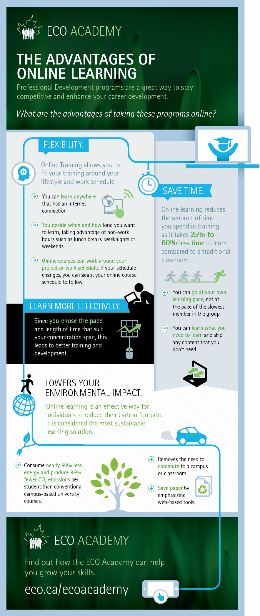 Infographic Advtanges of Online Learning