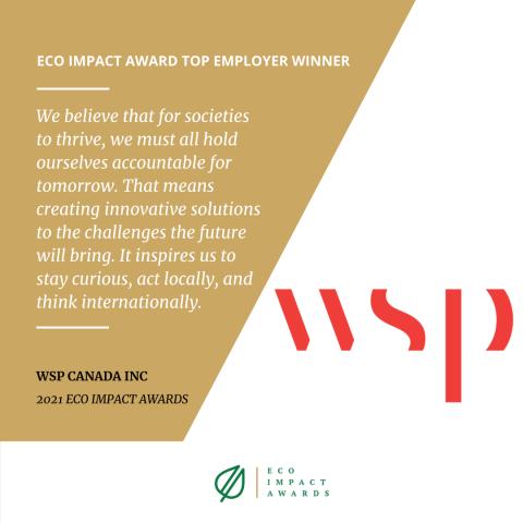 wsp top employer award eco canada