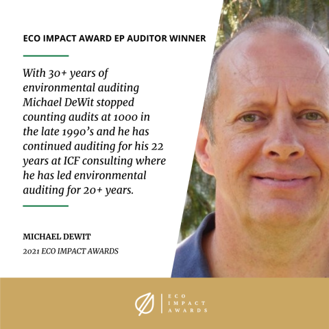 michael dewit eco impact ep auditor award