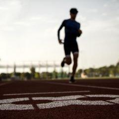 Sportman is running