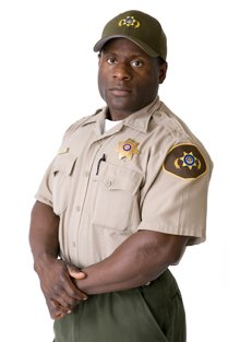 A park warden in uniform
