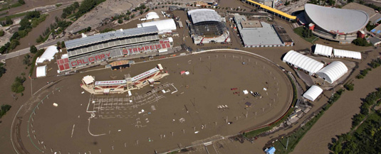 Calgary Stampede Grounds Flooded during the June 2013 flood