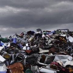 Photo of huge mound various waste landfills